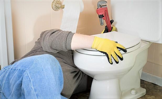 fuite d'eau dans les toilettes